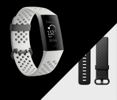 Fitbit Charge 3 Special Edition (NFC) - Graphite/White Silicone