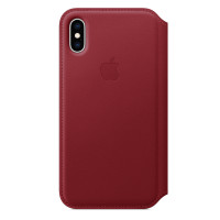 iPhone XS Leather Folio - (PRODUCT) RED
