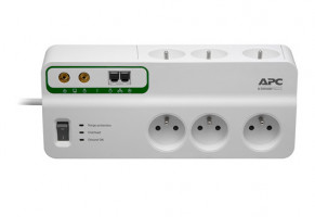 APC Home/Office SurgeArrest 6 Outlets s Phone and Coax Protection 230V France (PMH63VT-FR)