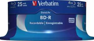1x25 Verbatim BD-R Blu-Ray 25GB 6x Speed ??DataLife No-ID Cakebox