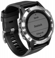 Garmin fenix 5 silver with black Armband 47mm