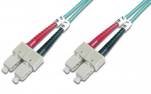 DIGITUS Fiber Optic Patch Cord,SC/SC Multimode 50/125 µ,OM3,Duplex,1m (4016032248538)