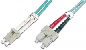 DIGITUS Fiber Optic Patch Cord,LC/SC Multimode 50/125 µ,OM3,Duplex,7m (4016032249610)