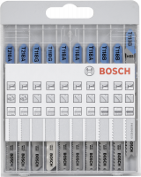 Bosch 10 pcs. Jigsaw Blade Kit basic for Metal and Wood