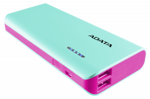 ADATA Powerbank PT100 modra/ruz. 10000 mAh s Flashlight