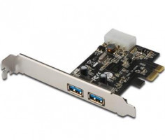 DIGITUS USB 3.0,2-Port,PCI Express Add-On card,2 Ports A/F; 1x LP bracket,NEC UPD720202 chipset (4016032326403)