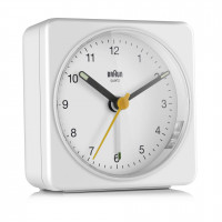 Braun BC 03 W quartz alarm clock analóg white