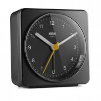 Braun BC 03 B quartz alarm clock analóg black