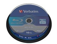 VERBATIM BD-R DL (10-pack) 50GB/6x/spindle