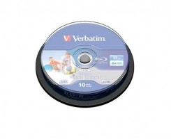 Verbatim 1x10 BD-R Blu-Ray 25GB 6x Speed ??DL Wide Printable CB
