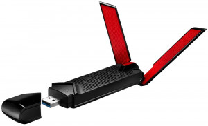 ASUS PCE-AC56 Next Generation Dual Band Wireless-AC1300 PCIe Adapter, High-Power Design, 2 x enternal Antennas