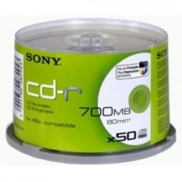 Sony CD-R 700MB 48x, Printable, spindle, 50ks