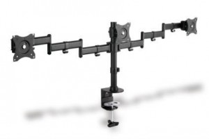 """CLAMB držiak Monitor Stand,3xLCD,max. 3x27"""",adjustable and rotated 360 °"""