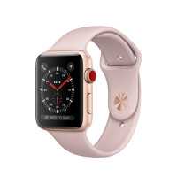 Apple Watch 3 GPS + Cell 42mm Gold Alu Case Pink Sd Sport Band