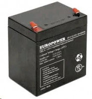 Europower rechargeable battery 12 V / 5 Ah T1 (4,75mm)
