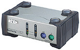 ATEN 2port KVM,PS/2,1,2m