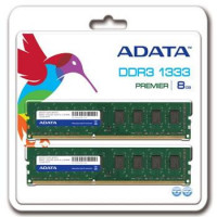 DIMM DDR3 8GB 1333MHz CL9 512x8 (KIT 2x4GB) ADATA, retail