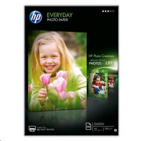 HP Everyday Photo Paper - Lesklý fotografický papier - A4 (210 x 297 mm) - 200 g / m2 - 100 listov
