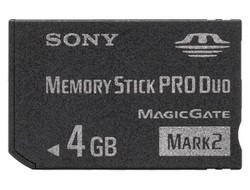 SONY MSMT4GN Memory Stick pre DUO Mark 2 4GB